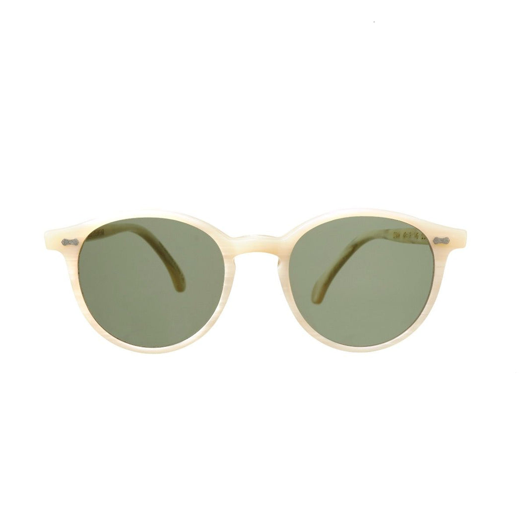 The Bespoke Dudes Eyewear Cran Ivory / Bottle Green