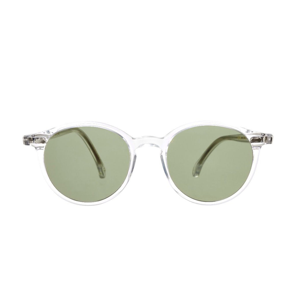 The Bespoke Dudes Eyewear Cran Transparent / Bottle Green