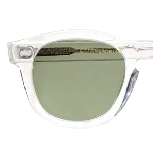 The Bespoke Dudes Eyewear Donegal Transparent / Bottle Green