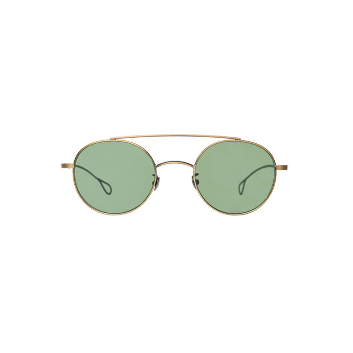 The Bespoke Dudes Eyewear Drill Brass / Bottle Green