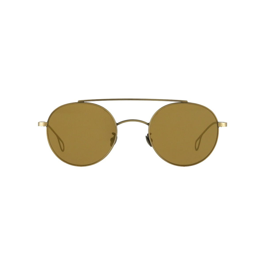 The Bespoke Dudes Eyewear Drill Brass / Tobacco