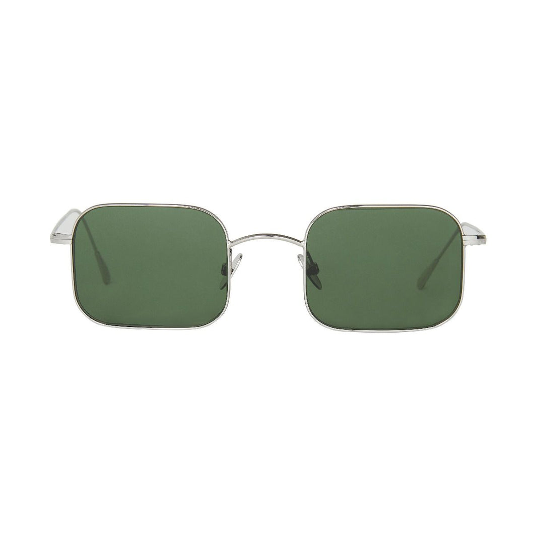 The Bespoke Dudes Eyewear Flare Rhodium / Bottle Green