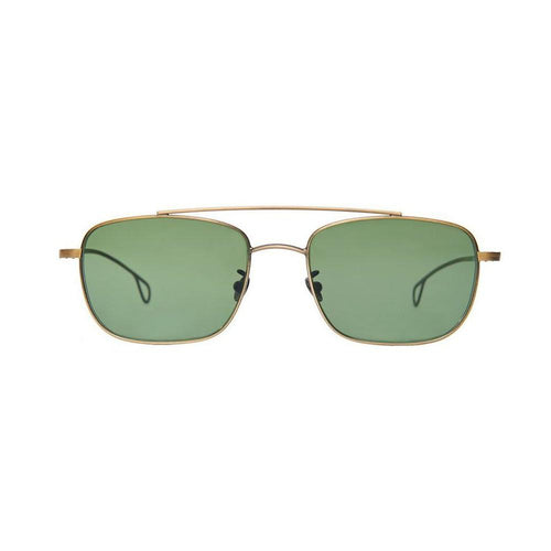 The Bespoke Dudes Eyewear Gabardine Brass / Bottle Green