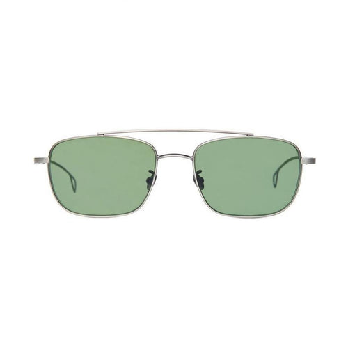 The Bespoke Dudes Eyewear Gabardine Silver / Bottle Green