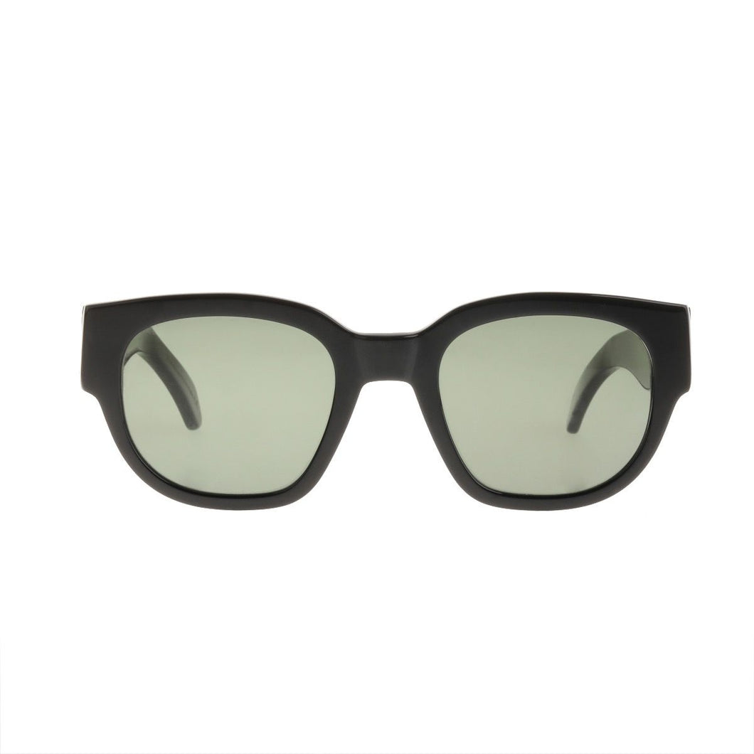 The Bespoke Dudes Eyewear Gresy Midnight Black / Bottle Green