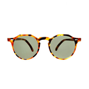 The Bespoke Dudes Eyewear Lapel Amber Tortoise / Bottle Green