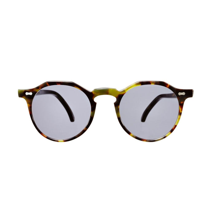 The Bespoke Dudes Eyewear Lapel Green Tortoise / Gradient Grey