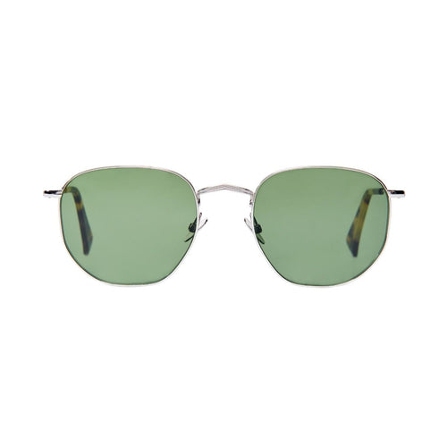 The Bespoke Dudes Eyewear Mohair Rhodium / Bottle Green