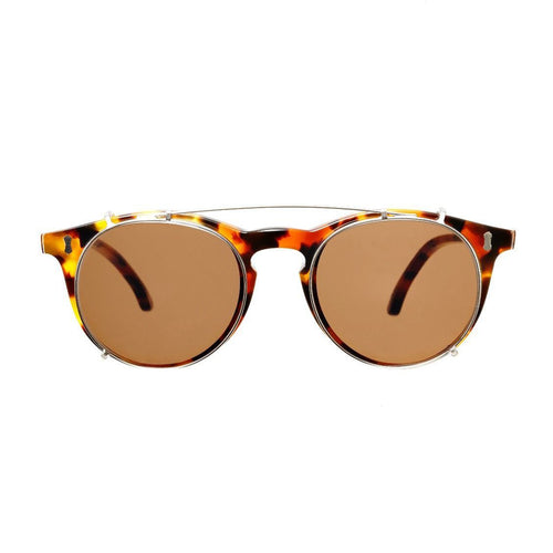 The Bespoke Dudes Eyewear Pleat Amber Tortoise / Tobacco