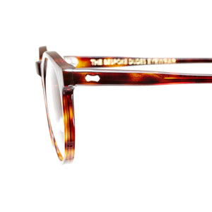 The Bespoke Dudes Eyewear Pleat Classic Tortoise / Gradient Grey
