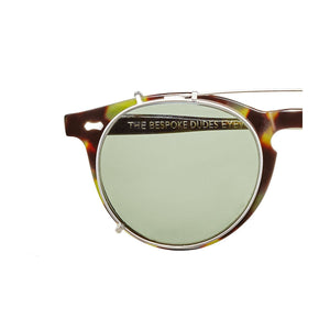 The Bespoke Dudes Eyewear Pleat Green Tortoise / Bottle Green
