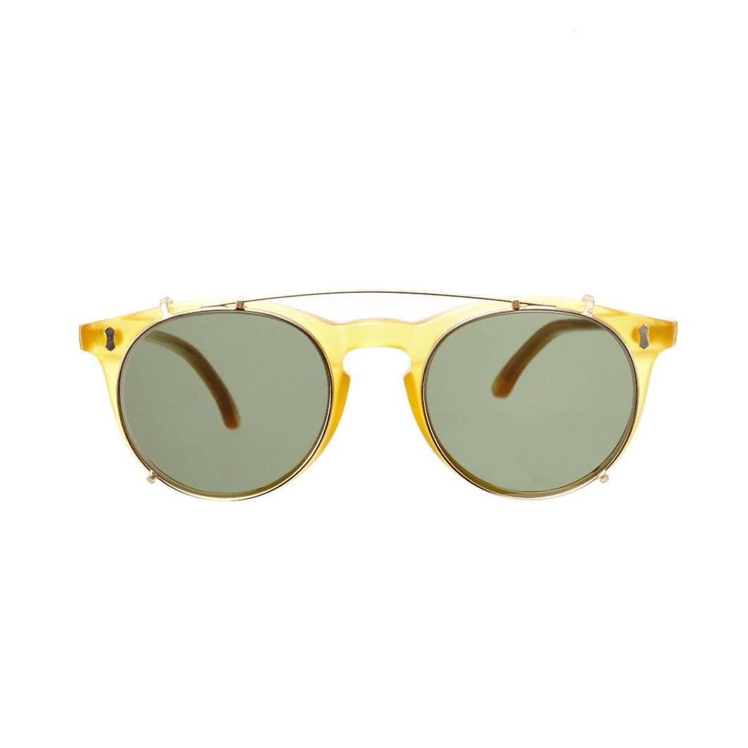The Bespoke Dudes Eyewear Pleat Honey / Bottle Green