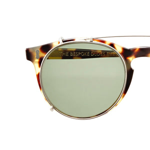 The Bespoke Dudes Eyewear Pleat Light Tortoise / Bottle Green