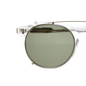 The Bespoke Dudes Eyewear Pleat Transparent / Bottle Green