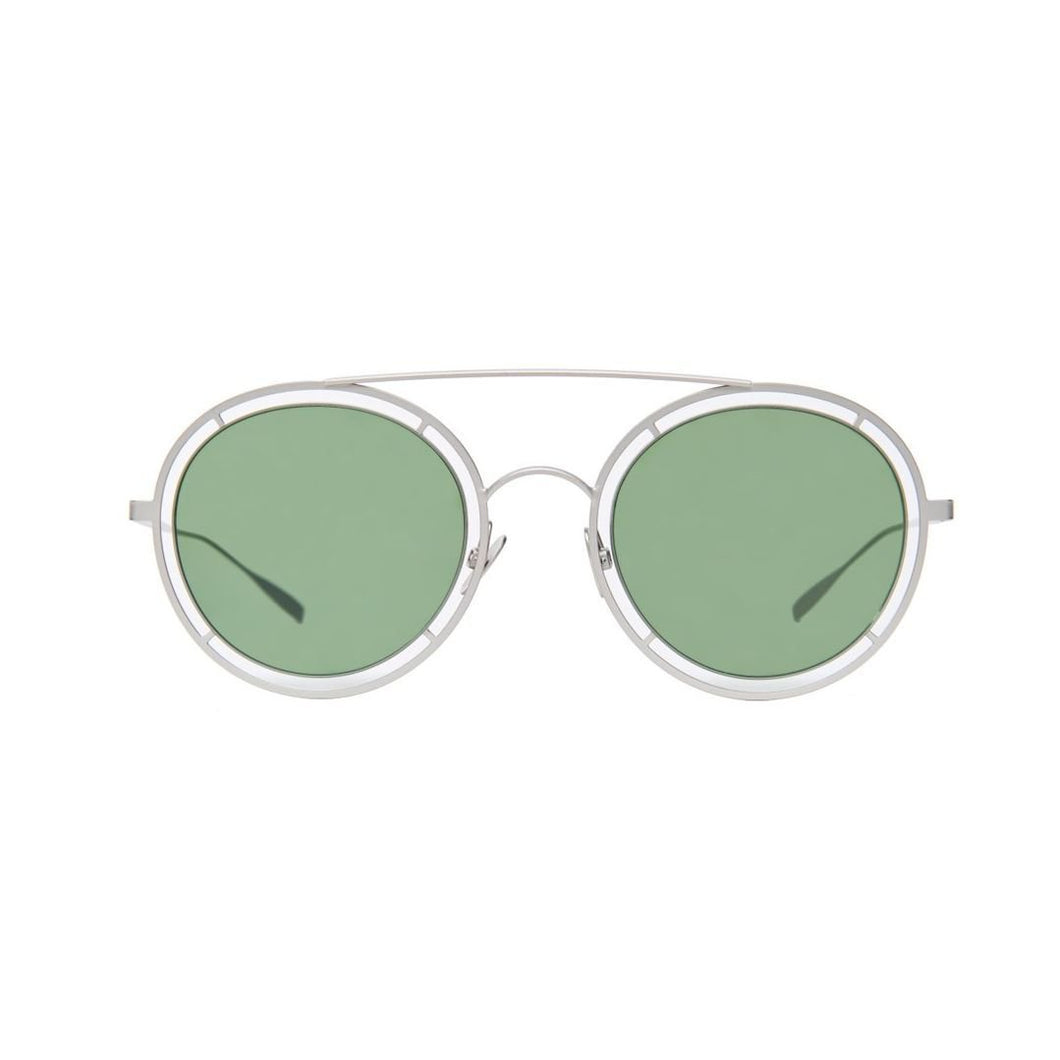 The Bespoke Dudes Eyewear Riviera Silver / Bottle Green