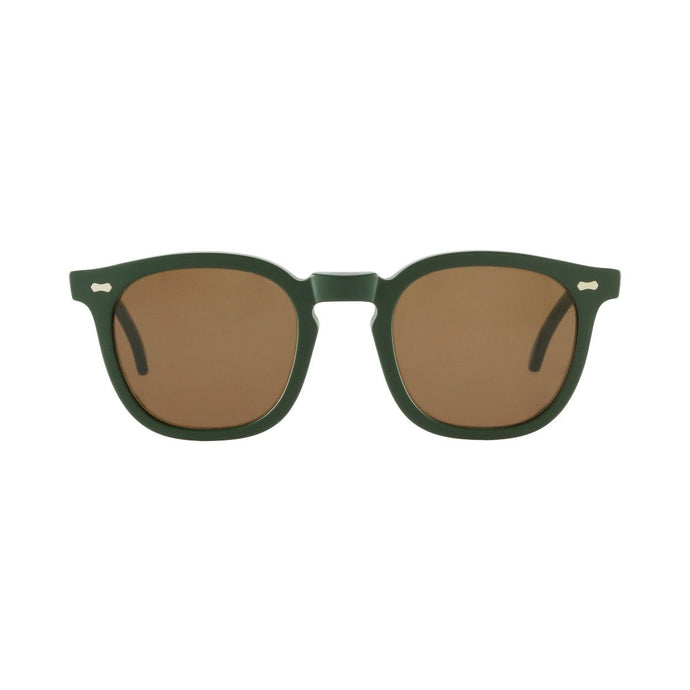 The Bespoke Dudes Eyewear Twill British Green // Tobacco