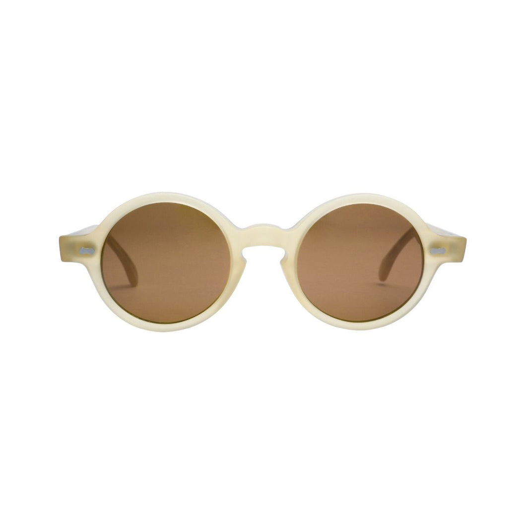 The Bespoke Dudes Eyewear Oxford Matte Champagne / Tobacco