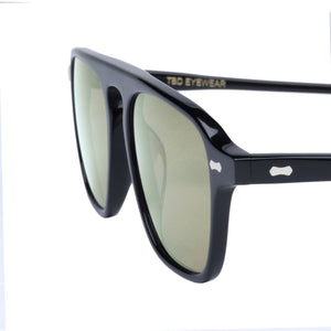 The Bespoke Dudes Eyewear Panama Black / Bottle Green