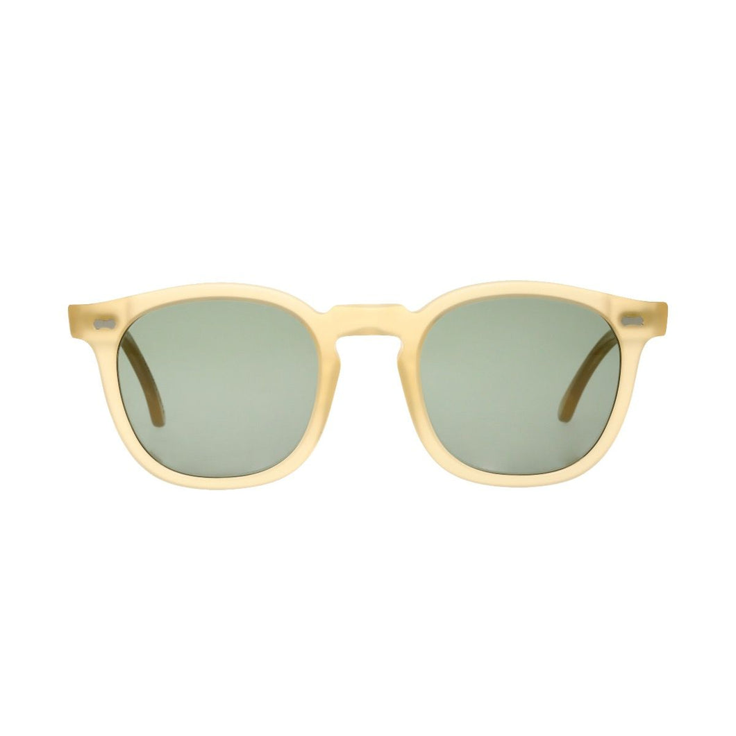 The Bespoke Dudes Eyewear Twill Matte Champagne // Bottle Green