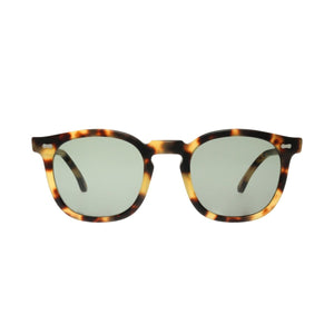 The Bespoke Dudes Eyewear Twill Matte Light Tortoise // Bottle Green