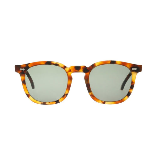 The Bespoke Dudes Eyewear Twill Matte Amber Tortoise // Bottle Green