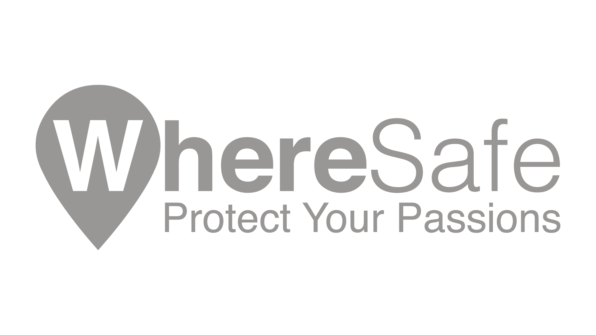 WhereSafe Logo Grey