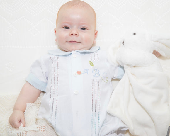 Boy's Classic Romper with Bunny