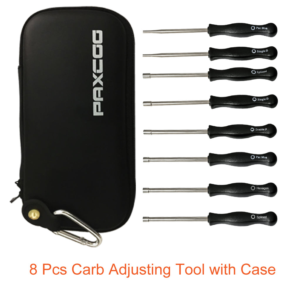 ... Paxcoo 8 Pcs Carburetor Adjusting Tool Kit with Carrying Case for  Common 2 Cycle Carburator Engine ... a2c23b19c