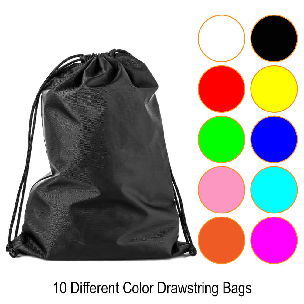 a6d529115b Paxcoo 10 Pieces Drawstring Backpack Cinch Nap Sack Tote Bags for Picnic  Gym Sport Beach Travel ...