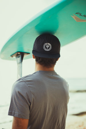 Black Palm Nylon Surf Hat