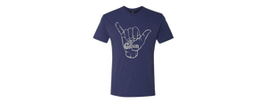 Shaka Tee Heather Navy