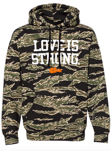 Love Is Strong Tiger Camo Pullover