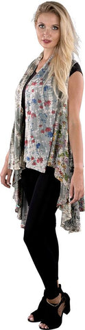 Stylish Floral Print Cardigan