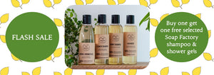 Natural Shampoos and Shower Gels