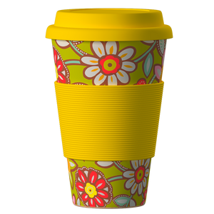 Eco Bamboo Cup Daisies 400 ml