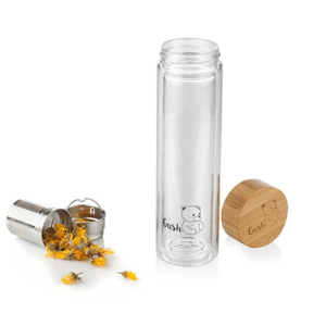Gush Glass Thermos with Removable Strainer 500ml