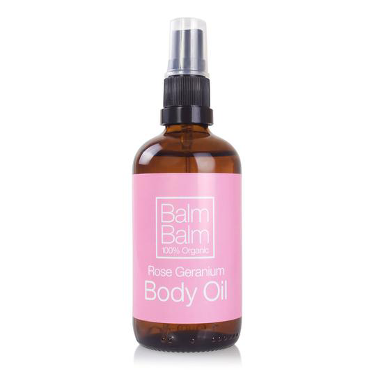 BalmBalm Rose Geranium Body Oil (100ml)