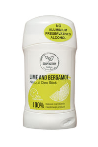 Soap Factory Lime & Bergamot Natural Handmade Deodorant Stick (75ml)