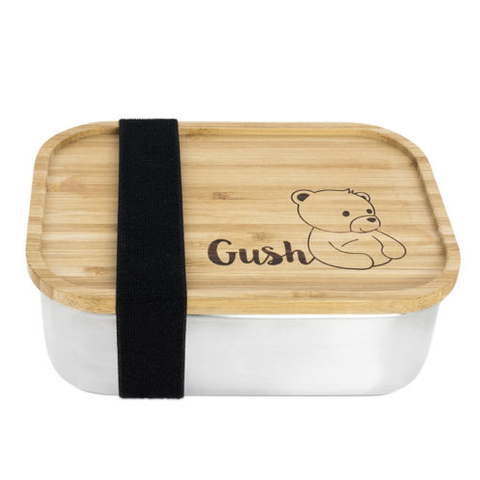 Gush Steel and Bamboo Food Box - 800ml