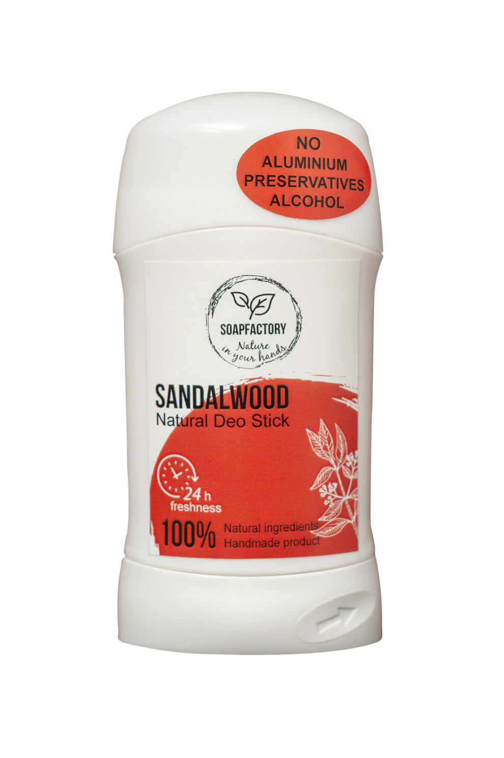 Soap Factory Sandalwood 100% Handmade Natural Deodorant Stick (75ml)
