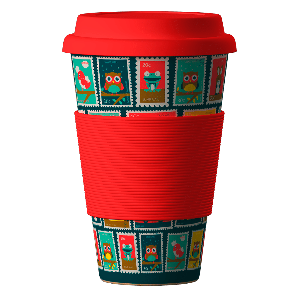 Eco Bamboo Cup Stamps 400ml