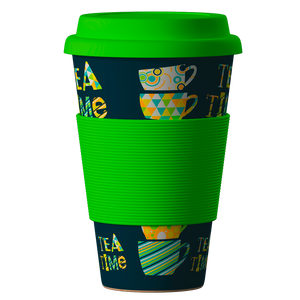 Eco Bamboo Cup Tea Time 400 ml