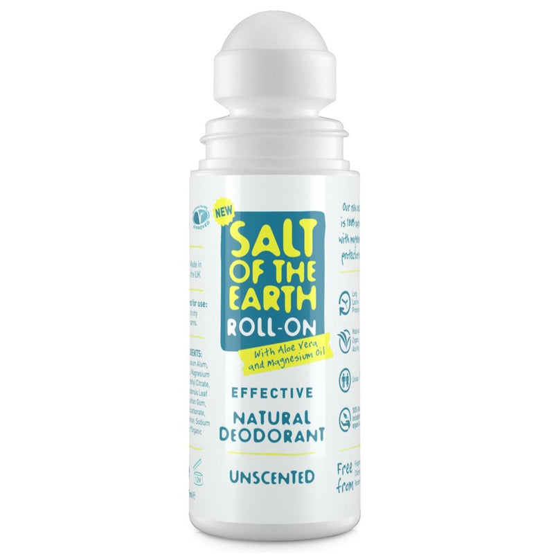 Crystal Spring Salt of the Earth Natural Unscented Deodorant Roll-On (75ml)