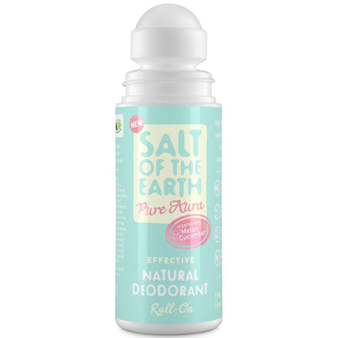 Crystal Spring Salt of the Earth Melon & Cucumber Natural Roll-On Deodorant (75ml)