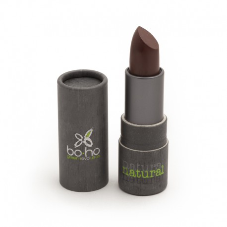 BoHo Green Make Up Organic Sheer Matte Lipstick - Burgundy 306