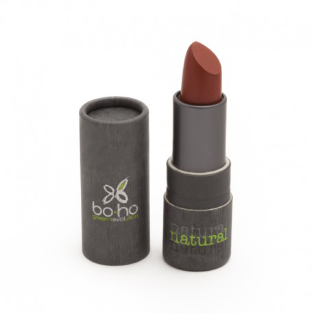 BoHo Green Make Up Organic Glossy Lipstick - Poppy 307