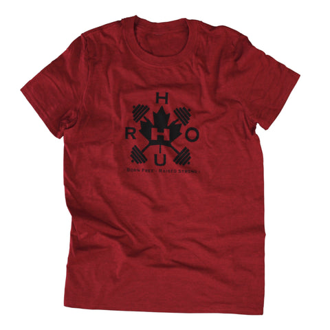 The Barbell Tee, True Red