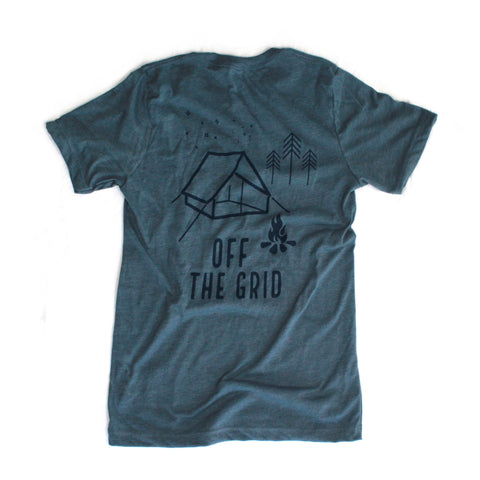 The Camper Tee - Heather Blue