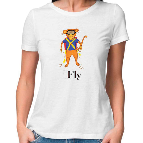 Fly Women Fitted T Shirt