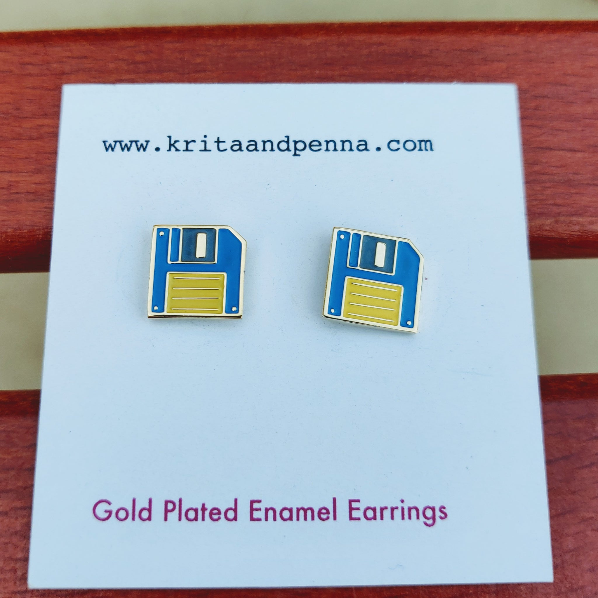 The Fabulous Floppy Gold Plated Earrings